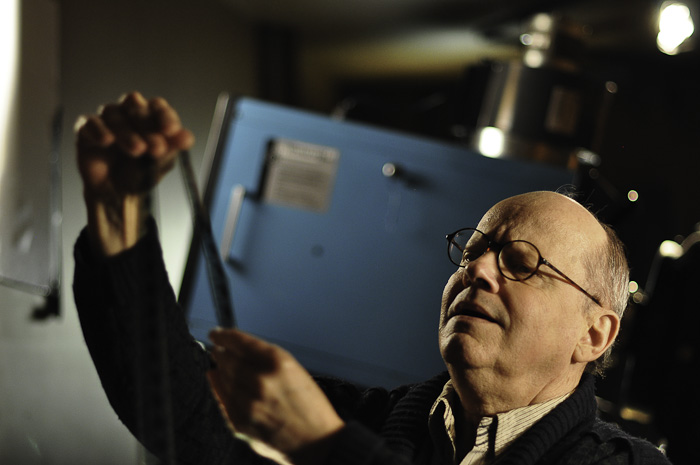 A dusty reel of film awakes the old projectionist's curiosity: Jean Archambault