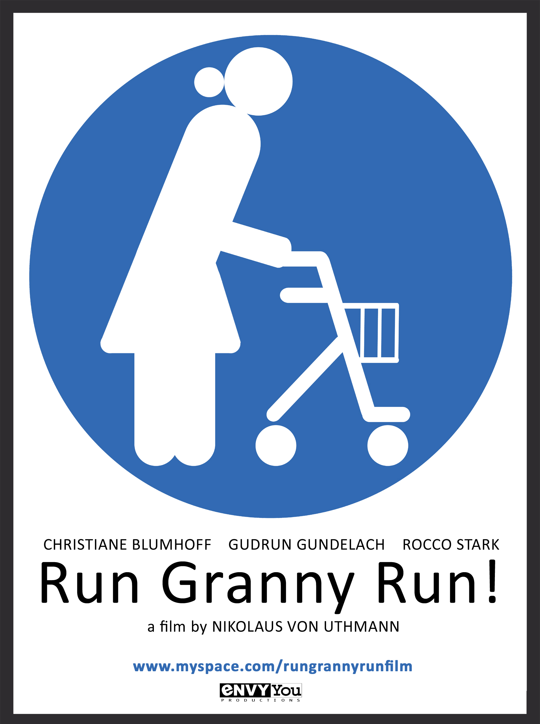 short film comedy Run Granny Run! film poster film festival entry