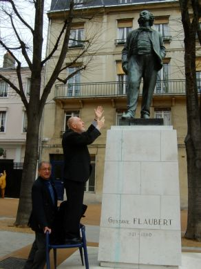 alex in Rouen with Flaubert