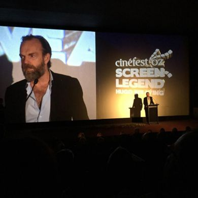 Actor Hugo Weaving at Closing Ceremony of CinefestOZ 2015