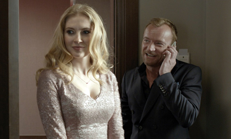 Paulina Chapko and Richard Dormer in 11 Minutes, directed by Jerzy Skolimowski