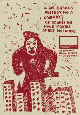A big gorilla destroying a country? ofcourse we have movies abot dictators.