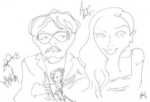 Tai Chi 0, director Stephen Fung, Kuo Fu Chen, AngelaBaby Yang, Venice Film Festival, sketch by Nesta.