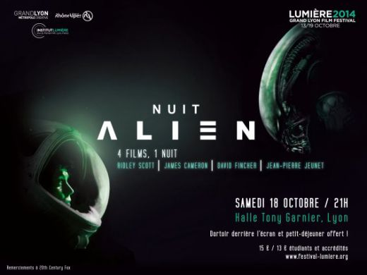 Alien Night, Saturday, October 18, 2014, at 9pm at the Halle Tony Garnier