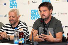 Hadžihafizbegović and Momčilović in Serbian Film Premier at Cinema City