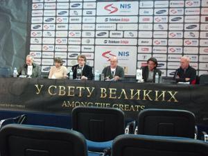 Andjelic-Art Director of Festival and Jury Members D.Bajic,Philip Bergson and Radavan