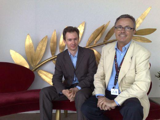 Eric Vernière et Bruno Chatelin au café des palmes