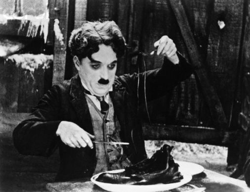 Charlie Chaplin in THE GOLD RUSH