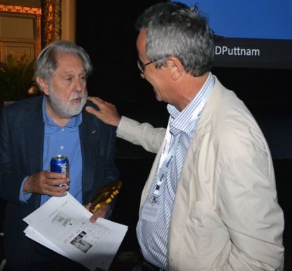 David Puttnam and Bruno Chatelin, former colleagues at Sony