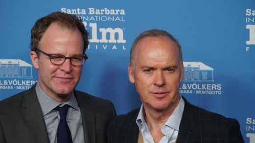 Michael Keaton and Writer/Director Tom McCarthy in Santa Barbara