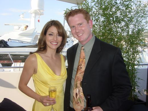 Emmanuelle Vaugier and Gary Wahlquist