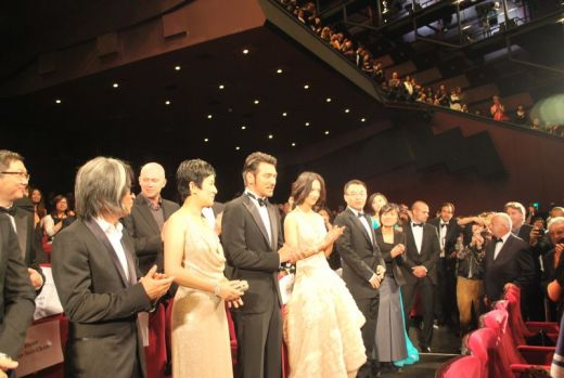 The cast of *Wu Xia* after the premier at midnight