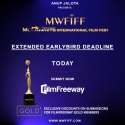 Anup Jalota Presents 4th MWFIFF 2021 - Extended Earlybird Deadline Ends TODAY!!! HURRY SUBMIT NOW!!!!