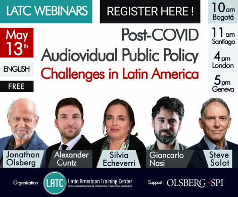 """Registration now open for the free online LATC Webinar """"Pos-Covid AV Public Policy Challenges in Latin America"""""""