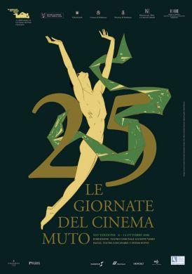 25th Anniversary GIORNATE de CINEMA MUTO de SACILE logo
