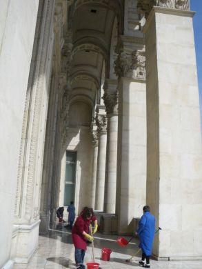 The Palace of the Parliament (Romanian: Palatul Parlamentului) in Bucharest