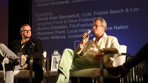 Bruno Chatelin speaking at Future of Festivals Panels