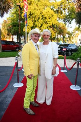 Alfred Fiandaca and Sharon Gless on the Red Carpet at Palm Beach Women's International Film Festival
