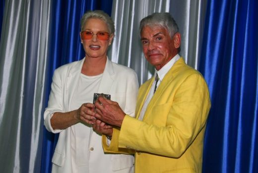 Alfred Fiandaca presents Sharon Gless with the Women in Media Award