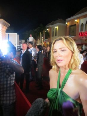 Kim Cattrall on red