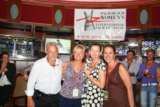 PBWIFF Chair Bruce Sutka, Pj Layng, Co-Director, Erica Beahm, filmmaker and Terri Neil, Co-Director