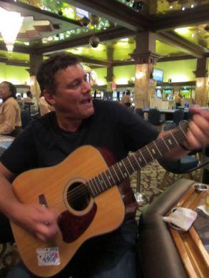 Steven Bauer on guitar