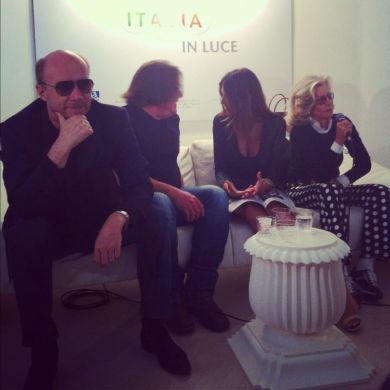 Paul Haggis, William Monahan, Madalina Diana Ghenea and Marina Cicogna at Ischia Press Conference