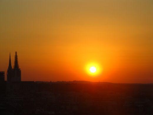 sunrise in Zagreb