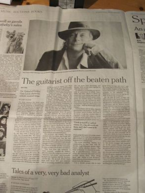 INTERNATIONAL HERALD TRIBUNE PROFILE OF GARY LUCAS 5/10/11