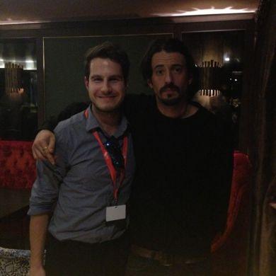 With Josh Mond at London FF 2015.