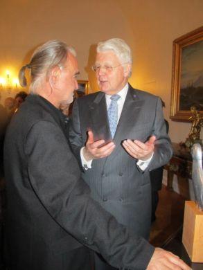 Bela Tarr and president of Iceland, Ólafur Ragnar Grímsson