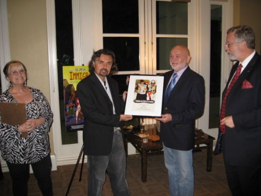 Hungarian animation artist Gabor Csupo receiving the Career Achievement Award on the opening night of the film fest