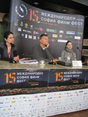 Milcho Manchevski on panel at SIFF