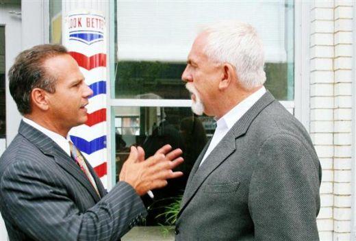Providence Mayor David Cicilline with actor, John Ratzenberger at RIIFF 08