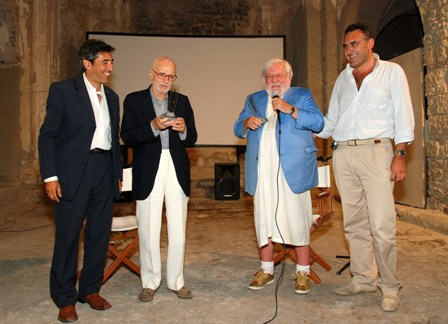 Mario Monicelli and Paolo Villaggio at Ischia Film Festival