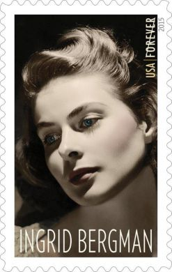 United States Postal Service stamp honoring Ingrid Bergman, to be released August 20, 2015
