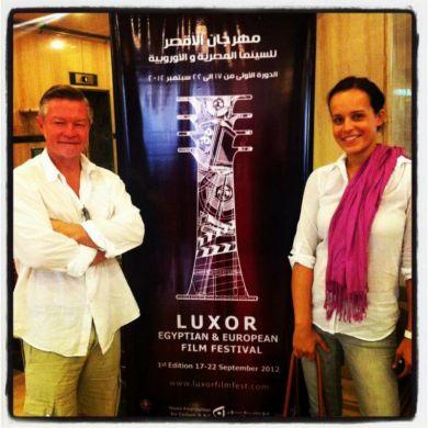 Scott and Kadi at Luxor Egyptian & European Film Festival