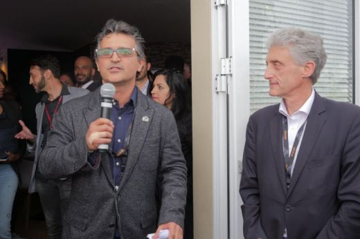 Kayvan Mashayekh (Co-Chair, PGA International Committee) with Frederic Goldsmith (UPC Delegue General) (Photo by @FilmFrance)