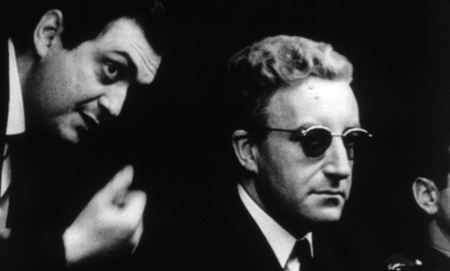 Stanley Kubrick and Peter Sellers on the set of Dr. Strangelove (1964)