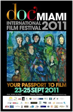 2011 DocMiami International Film Festival Official Poster - Artist Lance Miccio