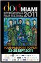 2011 DocMiami International Film Festival Official Poster - Artist Lance Miccio