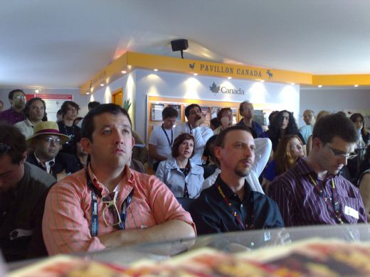 Future of Cinema Salon @ Cannes Distribution MingleTalk at CanadianPavilion