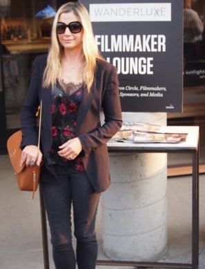 Mira Sorvino at the WanderLuxxe Filmmaker Lounge at Feast It Forward at Napa Valley Film Festival