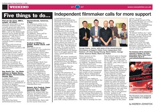 Media Coverage On YFIFF 2009 and The Knackery