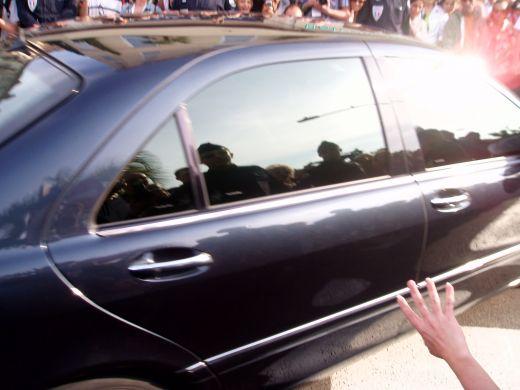 Tom Hanks ( i swear, he waved!)