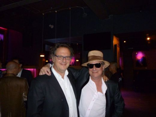 "Gary Lucas and director Dan Algrant at the afterparty for ""Greetings from Tim Buckley"" TIFF 9/9/12"