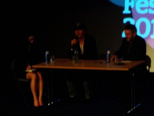 Kim Jee-woon answering questions after preview of I SAW THE DEVIL at LKFF