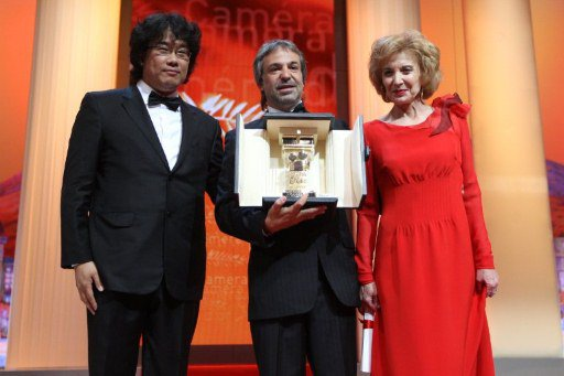Joon Ho Bong (Left) Pablo Giorgelli and Marisa Paredes