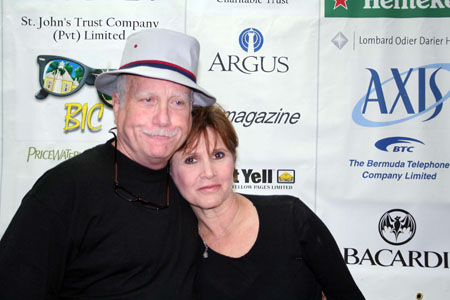 Richard Dreyfuss and Carrie Fisher