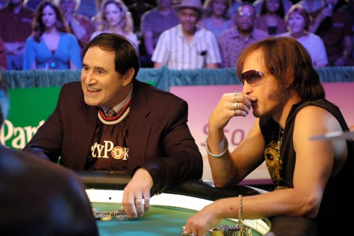 Richard Kind and Woody Harrelson in THE GRAND